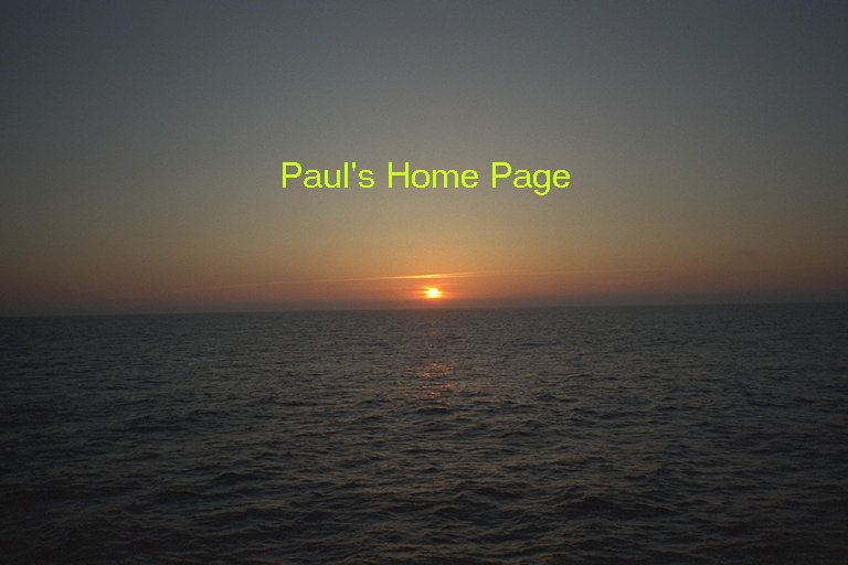Paul's Home Page